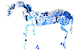 Blue Spotted Horse